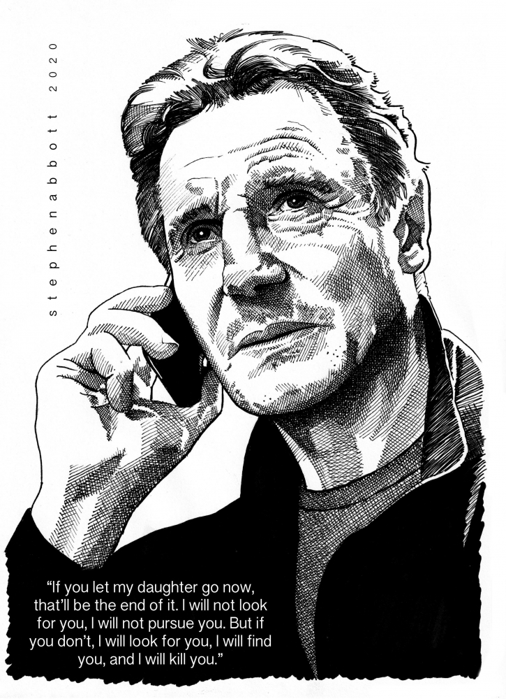 Liam Neeson by Stefanosart